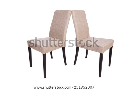 Row of chairs isolated on the white - stock photo