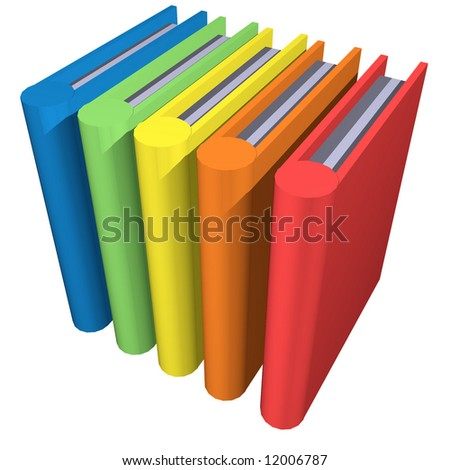 Row of colourful books depicting knowledge - stock photo