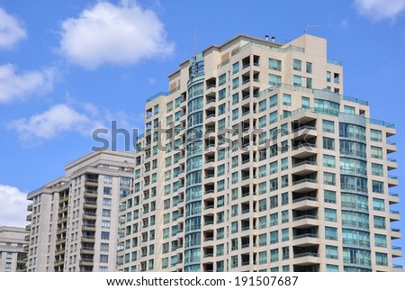 Row of residential buildings - stock photo