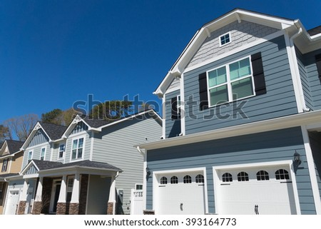 Row of residential houses - stock photo
