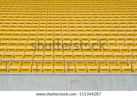 Row of seats on main stand. - stock photo