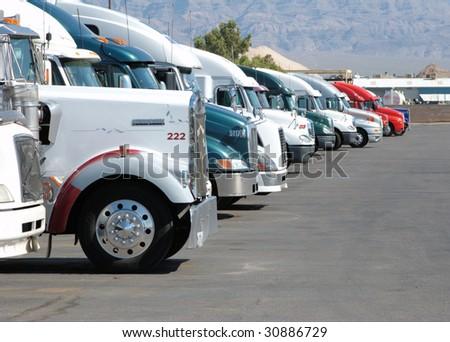 Row of trucks - stock photo