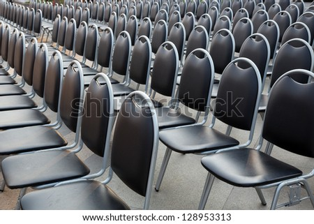 Rows of chairs. - stock photo
