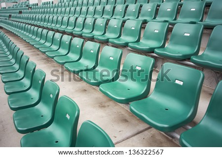 rows of chairs in a stadium - stock photo