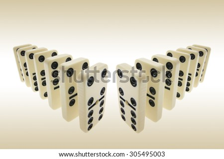 Rows of Dominoes  - stock photo