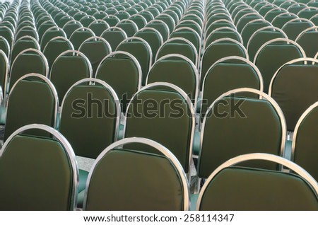 Rows of new chairs in the conference hall - stock photo