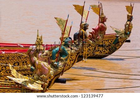 Royal Barge Thailand - stock photo