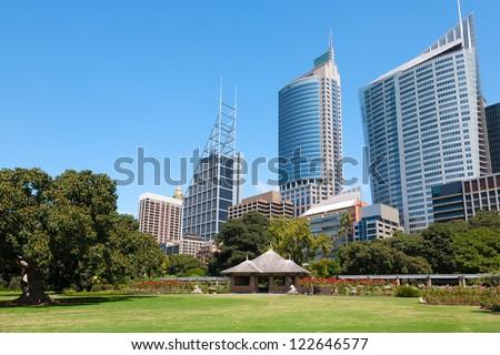 Royal Botanic Gardens Sydney Australia - stock photo