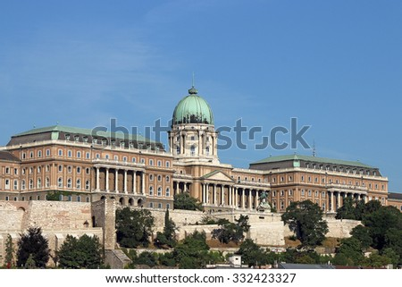 Royal castle Budapest Hungary landmark - stock photo