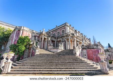 Royal Castle Queluz. Architectural details. - stock photo