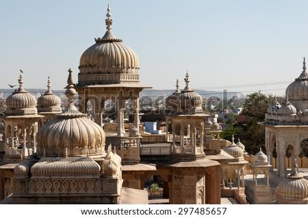 Royal Gaitor tumbas view, Jaipur, India - stock photo