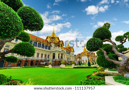 Royal grand palace in Bangkok. - stock photo