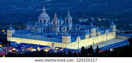 Royal Monastery in San Lorenzo El Escorial, Madrid, Spain - stock photo