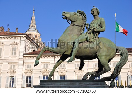 Royal Palace in Turin, the major residence of the Savoy dynasty. Piedmont, Italy. - stock photo