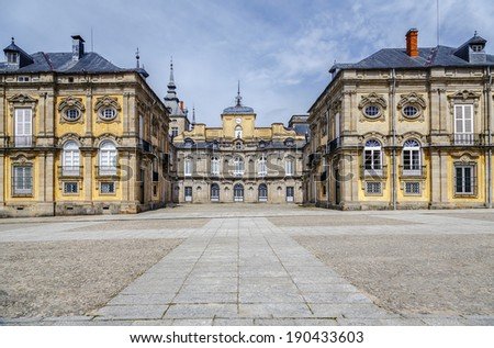 Royal Palace , La granja de san ildefonso, Segovia Spain  - stock photo