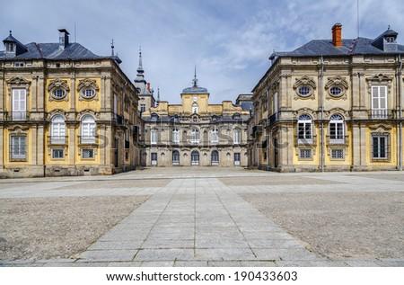 Royal Palace , La granja de san ildefonso, Segovia Spain  - stock photo