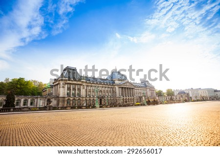Royal Palace of Brussels during daytime in Brussels, Belgium - stock photo