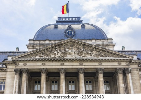 Royal Palace of Brussels (Palais Royal de Bruxelles, 1783 - 1934) - official palace of King and Queen of Belgians in centre of nation's capital Brussels, Belgium. - stock photo
