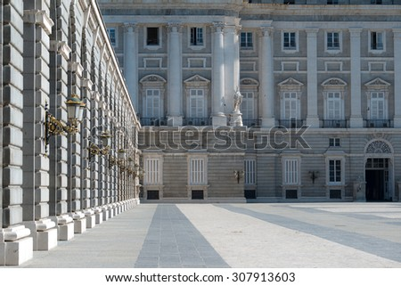 Royal Palace of Madrid, Spain - stock photo
