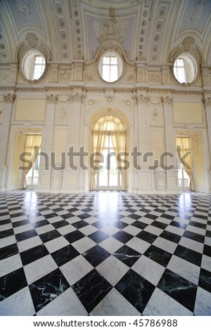 royal palace Reggia di Venaria - Turin - stock photo