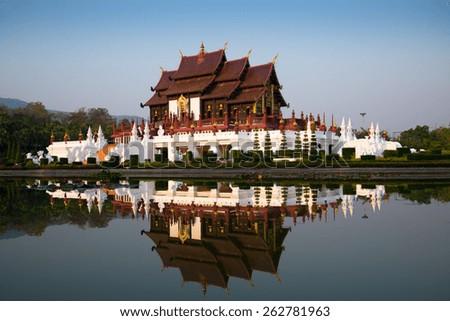 "Royal Pavilion ""Ho Kham Luang"" Chiangmai Thailand - stock photo"