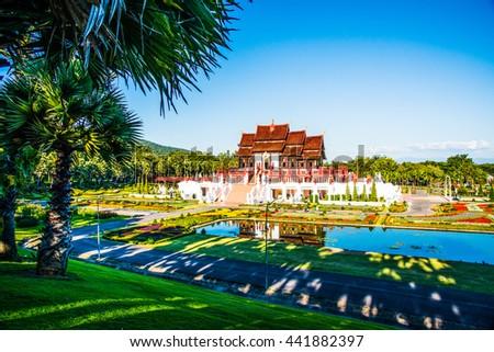 Royal Pavilion in Royal Park Rajapruek, Thailand - stock photo