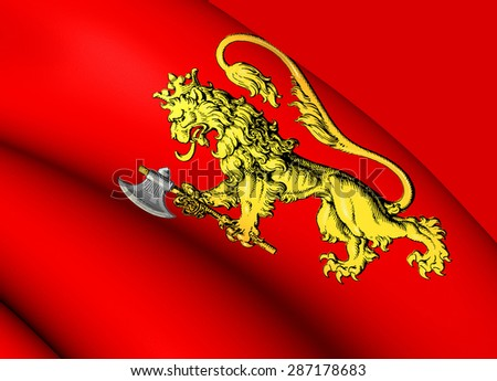 Royal Standard of the Norway. Close Up. - stock photo