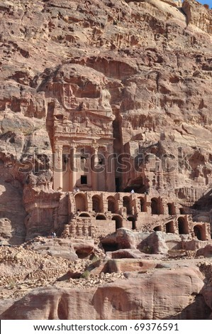 Royal Tombs in Petra - stock photo