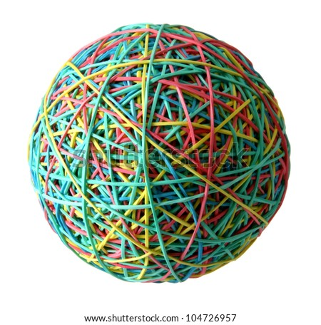 Rubber ball. - stock photo