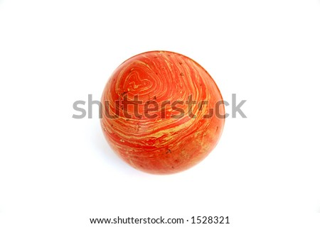 rubber ball isolated - stock photo