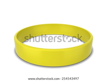 Rubber bracelet. 3d illustration isolated on white background  - stock photo