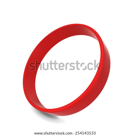 Rubber bracelet. 3d illustration isolated on white background  - stock photo