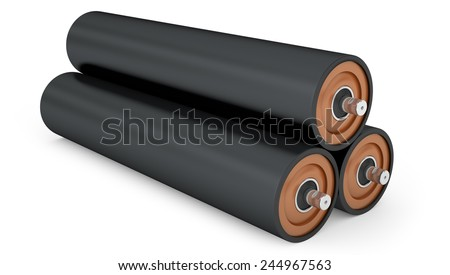 Rubber pulley for drum conveyor isolated on white background - stock photo