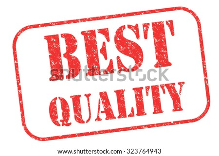 """Rubber stamp """"best quality"""" on white - stock photo"""