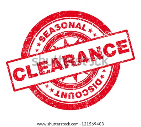 Rubber Stamp Clearance - stock photo