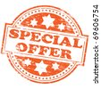 "Rubber stamp illustration showing ""SPECIAL OFFER"" text - stock photo"