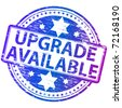 """Rubber stamp illustration showing """"UPGRADE AVAILABLE"""" text - stock photo"""