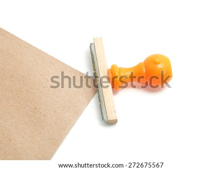 Rubber stamp on white background. - stock photo