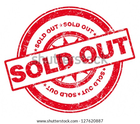 Rubber Stamp Sold Out - stock photo