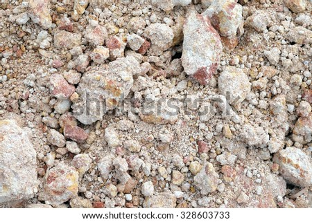 Rubble debris on construction site, texture background - stock photo