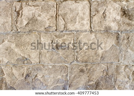 rubble, rough, solid, stone, stonewall, rock, puzzle, old, pattern, piece, protect, background - stock photo