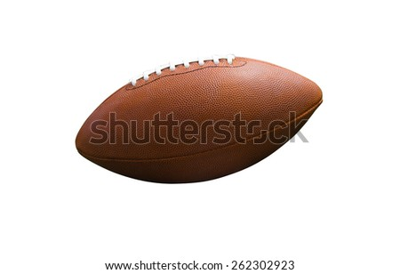 Rugby ball isolated on white - stock photo
