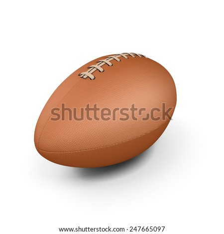 Rugby ball isolated on white background. 3d illustration. - stock photo