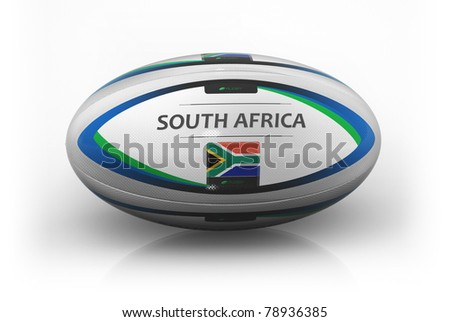 Rugby Ball  South Africa - stock photo