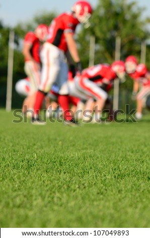 rugby team on field - stock photo