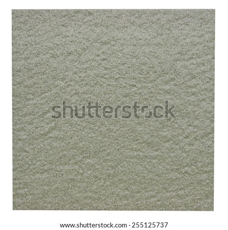 Rugged ceramic floor tile in green isolated on white with clipping path - stock photo
