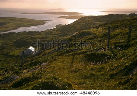 Rugged Irish Coastline - stock photo