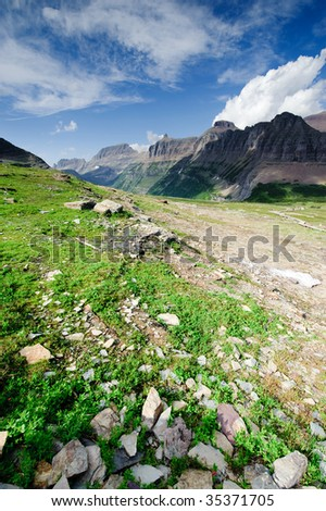 Rugged Mountain landscape - stock photo