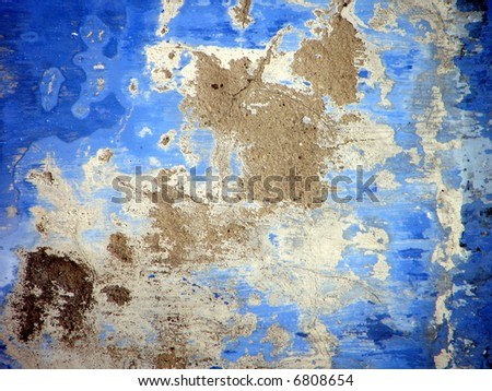 Ruin mansion wall texture - stock photo