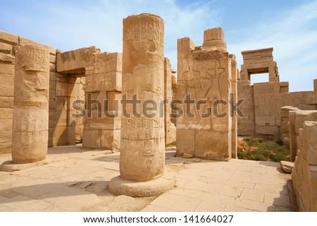 Ruin of Karnak Temple, Luxor, Egypt - stock photo